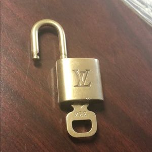 100% Authentic Louis Vuitton Padlock and Key #334